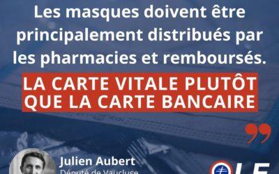 📢 Julien Aubert sur la distribution des #masques 👇
