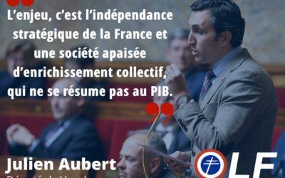 Julien Aubert : « La France a joué le jeu de la mondialisation »