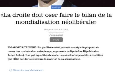 La droite doit oser faire le bilan de la mondialisation néolibéral